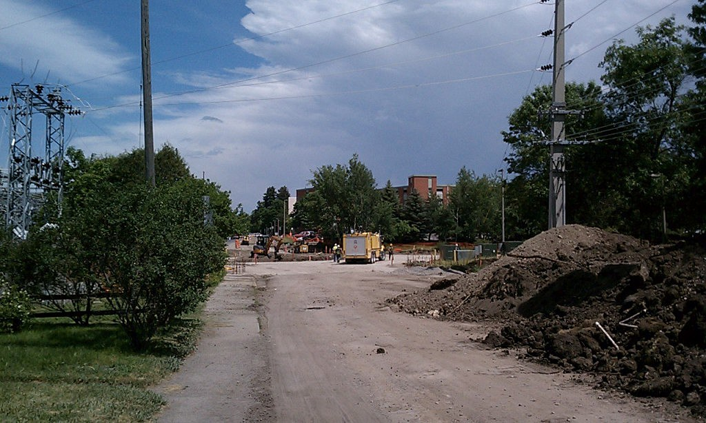 College and 11th Roundabout Under Construction