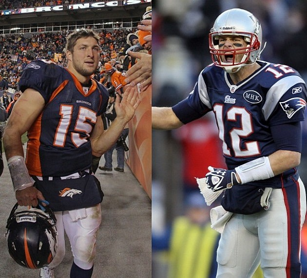 Tim Tebow and Tom Brady