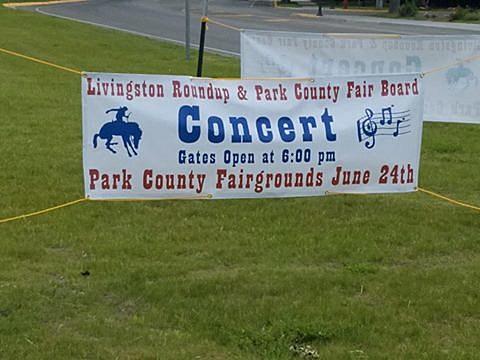 Livingston Roundup Concert Bannerr